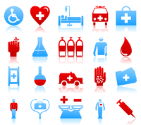 Medical icons. Set of icons on a theme medicine. A vector illustration