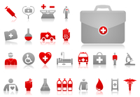 Medical icons4. Set of icons on a theme medicine. A vector illustration