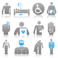 Medical icons8. Icons on a medicine theme. A vector illustration