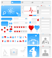 Medical site. Site on a medical theme. A vector illustration