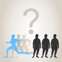 The group of runners runs. A vector illustration