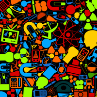 Background from technics and a science. A vector illustration 60016023559  写真素材・ストックフォト・画像・イラスト素材 アマナイメージズ