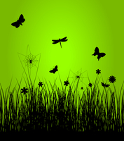 Spring5. Insects have woken up in the spring. A vector illustration