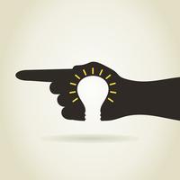 Bulb in a hand. A vector illustration 60016024627| 写真素材・ストックフォト・画像・イラスト素材|アマナイメージズ