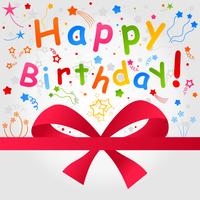 Happy birthday a card. A vector illustration 60016025184| 写真素材・ストックフォト・画像・イラスト素材|アマナイメージズ