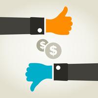 The hand holds a bag of dollars. A vector illustration 60016025278| 写真素材・ストックフォト・画像・イラスト素材|アマナイメージズ