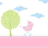 Carriage for children2. Carriage for children with the kid inside. A vector illustration 60016025373| 写真素材・ストックフォト・画像・イラスト素材|アマナイメージズ