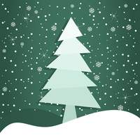 Celebratory tree3. Christmas tree on a green background. A vector illustration