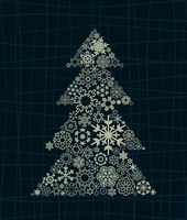 Celebratory tree6. The Christmas tree consists of snowflakes. A vector illustration