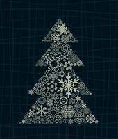 Celebratory tree6. The Christmas tree consists of snowflakes. A vector illustration 60016025401| 写真素材・ストックフォト・画像・イラスト素材|アマナイメージズ
