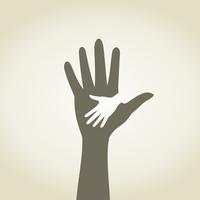Childrens hand in a hand. A vector illustration 60016025424| 写真素材・ストックフォト・画像・イラスト素材|アマナイメージズ