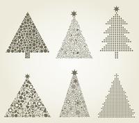 Collection of Christmas trees. A vector illustration 60016025542  写真素材・ストックフォト・画像・イラスト素材 アマナイメージズ