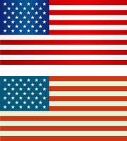 American Flag.  Patriotic background. Vector illustration. EPS 10