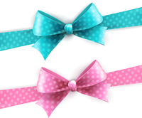 Vector  illustration isolated polka dots bow for greeting card 60016026644| 写真素材・ストックフォト・画像・イラスト素材|アマナイメージズ