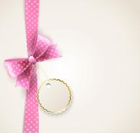 Vector  illustration isolated polka dots bow for greeting card 60016026646| 写真素材・ストックフォト・画像・イラスト素材|アマナイメージズ