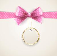 Vector  illustration isolated polka dots bow for greeting card 60016026663| 写真素材・ストックフォト・画像・イラスト素材|アマナイメージズ