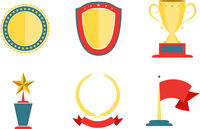 Award badges collection, achievement and success vector illustration