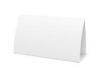 Paper table card, sign template vector illustration 60016027341| 写真素材・ストックフォト・画像・イラスト素材|アマナイメージズ