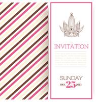 Striped princess invitation card template vector illustration 60016027398| 写真素材・ストックフォト・画像・イラスト素材|アマナイメージズ