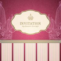 Retro princess invitation template vector illustration 60016027399| 写真素材・ストックフォト・画像・イラスト素材|アマナイメージズ