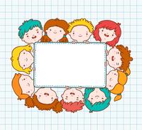 Doodle kids blank frame template vector illustration 60016027465| 写真素材・ストックフォト・画像・イラスト素材|アマナイメージズ