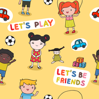 Seamless sweet cute baby kids background vector illustration 60016027466| 写真素材・ストックフォト・画像・イラスト素材|アマナイメージズ