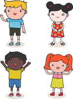 Set of sweet cute baby kids vector illustration 60016027468| 写真素材・ストックフォト・画像・イラスト素材|アマナイメージズ