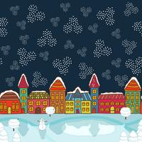 Christmas house background vector illustration 60016027472| 写真素材・ストックフォト・画像・イラスト素材|アマナイメージズ