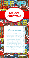 Christmas invitation card design template vector illustration 60016027474| 写真素材・ストックフォト・画像・イラスト素材|アマナイメージズ