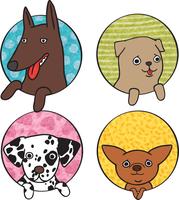 Cute dogs icon set isolated vector illustration 60016027628| 写真素材・ストックフォト・画像・イラスト素材|アマナイメージズ