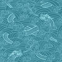 Asian pattern with dragon background vector illustration 60016027698| 写真素材・ストックフォト・画像・イラスト素材|アマナイメージズ