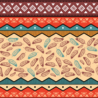 Ethnic tribal abstract pattern background vector illustration