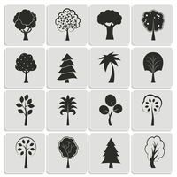 Green forest trees design elements of pine fir oak isolated vector illustration 60016027754| 写真素材・ストックフォト・画像・イラスト素材|アマナイメージズ