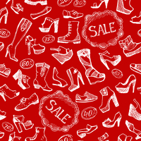 Seamless fashion shoes background pattern vector illustration