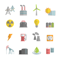 Energy power flat icons set of solar panels wind turbine and nuclear plant isolated vector illustration 60016028012| 写真素材・ストックフォト・画像・イラスト素材|アマナイメージズ