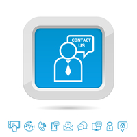 Contact us button template with helpdesk service and customer icons isolated vector illustration 60016028112| 写真素材・ストックフォト・画像・イラスト素材|アマナイメージズ