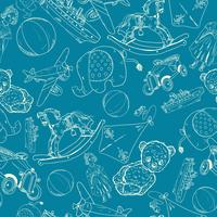 Hand drawn blue chalkboard children toys sketch seamless pattern of elephant steamship airplane car vector illustration 60016028264| 写真素材・ストックフォト・画像・イラスト素材|アマナイメージズ