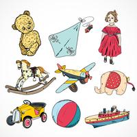 Decorative children toys sketch icons set of steamship kite rocking horse ball isolated vector illustration 60016028266| 写真素材・ストックフォト・画像・イラスト素材|アマナイメージズ