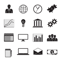 Business flat generic icons set of people teamwork charts graphs and finance isolated vector illustration 60016028425| 写真素材・ストックフォト・画像・イラスト素材|アマナイメージズ
