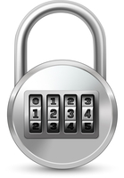 Realistic lock with combination password code icon isolated vector illustration 60016028478| 写真素材・ストックフォト・画像・イラスト素材|アマナイメージズ