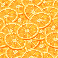 Seamless riped juicy sliced oranges pattern background vector illustration