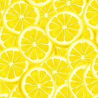 Seamless riped juicy sliced lemons pattern background vector illustration
