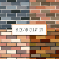 Seamless old grunge and mixed color classic brick blocks wall pattern vector illustration