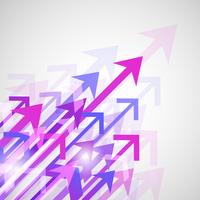 Decorative abstract colorful diagonal arrows digital print background vector illustration