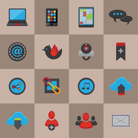 Social media communication icons set for mobile internet application of chat share email and cloud services vector illustration 60016028677| 写真素材・ストックフォト・画像・イラスト素材|アマナイメージズ