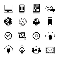 Social network symbols pictograms set for computer and electronic mobile devices isolated vector illustration 60016028681| 写真素材・ストックフォト・画像・イラスト素材|アマナイメージズ