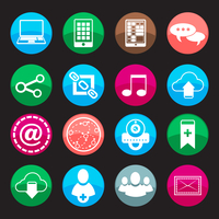 Social media buttons icons set with web blog communication symbols isolated vector illustration 60016028682| 写真素材・ストックフォト・画像・イラスト素材|アマナイメージズ