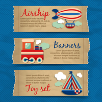 Toy transport torn paper cartoon travel banners set with train boat aerostat isolated vector illustration 60016028739| 写真素材・ストックフォト・画像・イラスト素材|アマナイメージズ