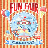 Vintage carnival fun fair theme park poster template vector illustration 60016028930| 写真素材・ストックフォト・画像・イラスト素材|アマナイメージズ