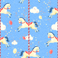 Amusement park carnival fun fair seamless pattern with merry-go-round horse vector illustration 60016028931| 写真素材・ストックフォト・画像・イラスト素材|アマナイメージズ